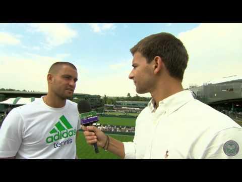 Mikhail Youzhny interview (1R) - Wimbledon 2014