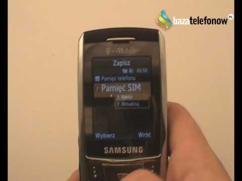 Посмотреть ролик - Prezentacja telefonu Samsung SGH-D900i.