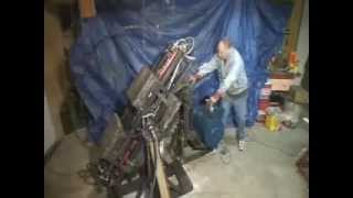 getlinkyoutube.com-free energy gravity wheel machine in action showing start and stop from Bob Kostoff