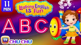 Learning English Is Fun™ | ABC Songs | ChuChu TV Phonics & Words Learning For Preschool Children width=