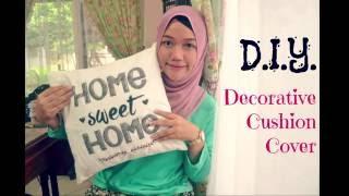 Cara Membuat Cover Bantal Kursi Untuk Dekorasi  l  DIY Decorative Cushion Cover