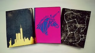 getlinkyoutube.com-DIY... Decora tus cuadernos (3 ideas) fácil