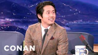 Steven Yeun's Crotch Tick Attack