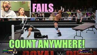 getlinkyoutube.com-FAILS Count Anywhere DADDY VS DAUGHTER WWE 2K16 Funny Moments and Epic Reactions!