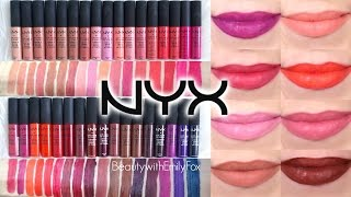 getlinkyoutube.com-NYX Soft Matte Lip Cream + Lip Swatches | ALL 34 SHADES Including NEW SHADES