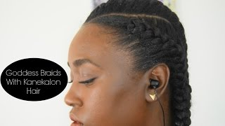 getlinkyoutube.com-Goddess Braids With Kanekalon Hair