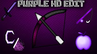 ★ Minecraft PvP Texture Pack Purple-HD-Edit ★[1.8]