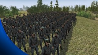 getlinkyoutube.com-Men of War Battles - 200 Officers Vs 20 Machine Gunners