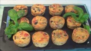 Mini tortilla aux aubergines et poivrons /special Ramadan