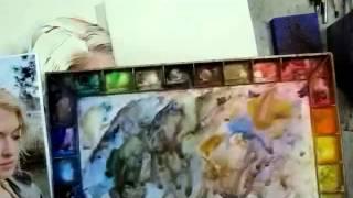 getlinkyoutube.com-Lesson 17 / Watercolor Portrait / Hair & Skin