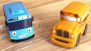 getlinkyoutube.com-Машинки Спиди и Бас - Автобус Тайо и мини купер. Мультфильмы и игрушки для детей