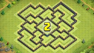 """getlinkyoutube.com-Clash Of Clans """"NEW UPDATE!"""" TH9 War Base / CoC TH9 Trophy Base! (BEST Town Hall 9 Defence 2015)"""