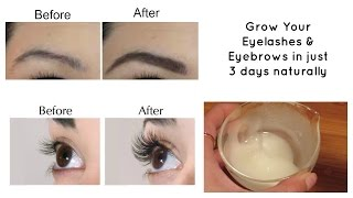 getlinkyoutube.com-Grow your eyelashes & eyebrows in just 3 days | Eyelash and Eyebrow serum