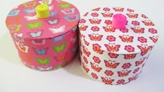 DIY : #150 Storage Box Made from RECYCLED Tape ♥