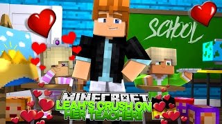 Minecraft BABY SCHOOL - BABY LEAH HAS A CRUSH ON HER HOT SCHOOL TEACHER!! Little Donny Roleplay.