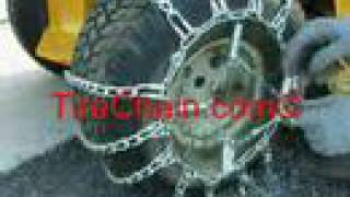 getlinkyoutube.com-TireChain.com - Garden Tractor Tire Chains Installation