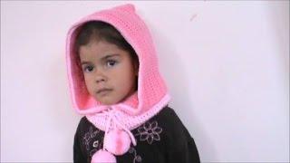 getlinkyoutube.com-Bufanda con Capucha en Crochet