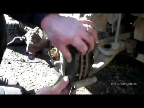Как поменять тормозные колодки Changan cs35