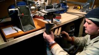 getlinkyoutube.com-Как сделать клинок с помощью гриндера (HD 1080p). How to make a knife blade.