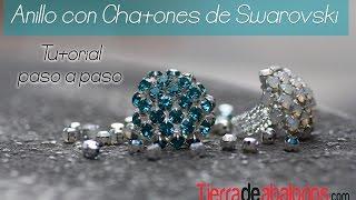Anillo con Chatones Swarovski - Haz tu anillo con Chatones
