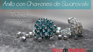 getlinkyoutube.com-Anillo con Chatones Swarovski - Haz tu anillo con Chatones