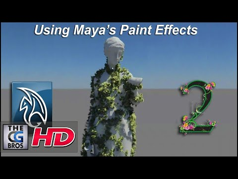 Maya Paint Effects Tutorial: Growing Animated Vines (Part 2)