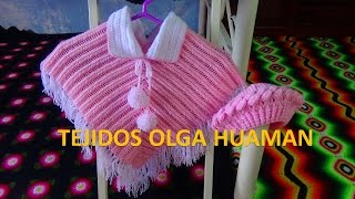 getlinkyoutube.com-poncho tejido a crochet para bebe o niña paso a paso