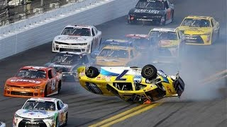 getlinkyoutube.com-Nascar - Daytona Speedweeks 2015 - Crash Compilation (Original Sound - No Music)