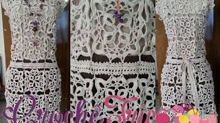 getlinkyoutube.com-Crochê - Vestido Charme - Parte 01/05