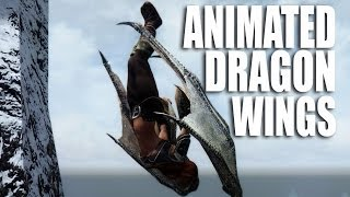 getlinkyoutube.com-Skyrim Mods Watch: Animated Dragon Wings