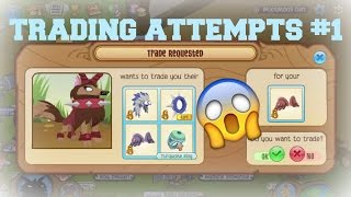 Animal Jam Trading Attempts: BROWN GLOSSY CUPID WINGS!