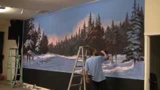 getlinkyoutube.com-Paint with Kevin Hill - Winter Glow Mural