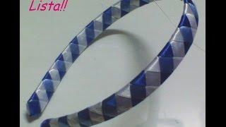 getlinkyoutube.com-Diadema o Cintillo Trenzado a 4 cintas