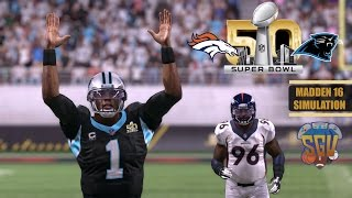 getlinkyoutube.com-Madden 16 (Xbox One): Super Bowl 50 Simulation - Carolina Panthers vs Denver Broncos