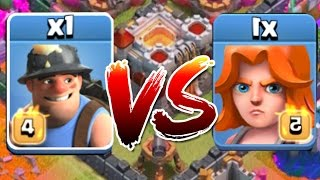 getlinkyoutube.com-Clash Of Clans - MINER VS VALKYRIE!! (Which troop Comp is stronger?!?)