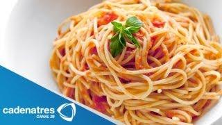 getlinkyoutube.com-Receta de Spaguetti / Cómo preparar Spaguetti / Comida mexicana