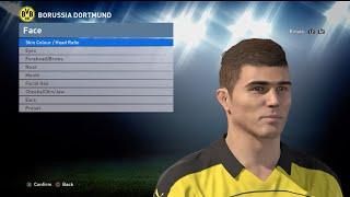 getlinkyoutube.com-PES 2016 Face Build + Stats Christian Pulisic (Borussia Dortmund)