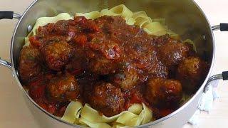 getlinkyoutube.com-Meatballs Pasta Homemade Tomato Sauce Delicious Recipe How to make
