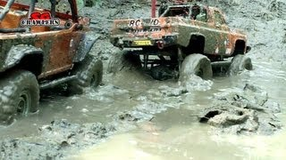 getlinkyoutube.com-Extreme Mudding! Axial SCX10 Jeep Wrangler Wraith Tamiya Clod Buster truck RC offroad adventures
