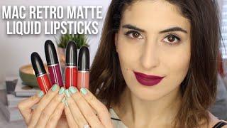 getlinkyoutube.com-MAC Retro Matte Liquid Lipsticks: Review & Swatches | Lily Pebbles