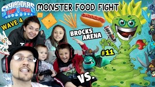 getlinkyoutube.com-MONSTER FOOD FIGHT! All of Wave 4 Upgraded Gameplay (Us vs. Brock Part 11 | Skylanders Trap Team)