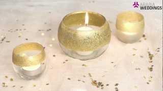 كيف نصنع كؤوس شمعية براقة لحفل الزفاف؟