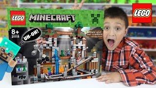 getlinkyoutube.com-Lets Build LEGO Minecraft THE MINE! w/ Mike! (Timelapse & FGTEEV Cheesy Review)