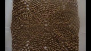 getlinkyoutube.com-Большой квадратный мотив.Square crochet motif