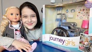 getlinkyoutube.com-Review: Cadeira de Rodas para Bonecas Journey Girls - Julia Silva