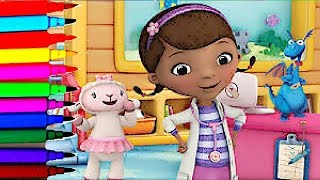 getlinkyoutube.com-Disney Junior Doc McStuffins Time For Check Up Coloring Book Pages Doc Stuffy Lambie Hallie Chilly