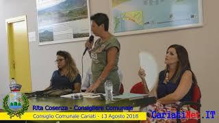 Consiglio Comunale Cariati 13 agosto 2018   RITA COSENZA