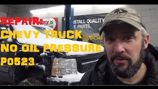 getlinkyoutube.com-Chevy Truck No Oil Pressure - P0523