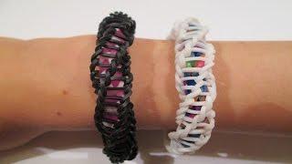 "getlinkyoutube.com-Rainbow Loom - Spirilla Bracelet (Variation of the ""Frozen"" bracelet by rainbow loom)"