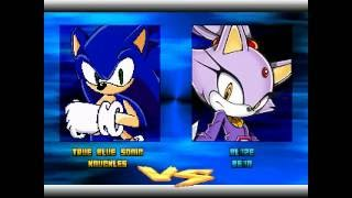 getlinkyoutube.com-SONIC SPEED FIGHTERS 2 MATCH 23# SONIC AND KNUCKLES VS BLAZE AND BEAN